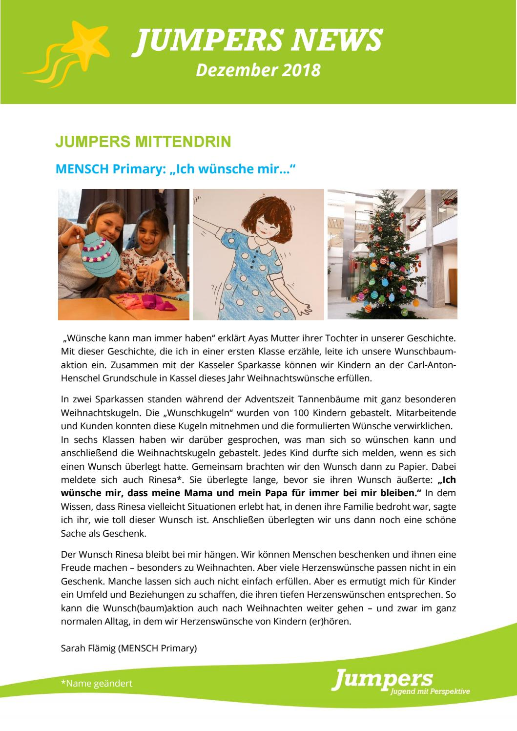 Weihnachtswünsche Tochter.Jumpers News Dezember 2018 By Jumpers Jugend Issuu