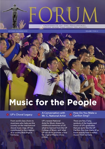The UP Forum October-December 2018 Vol  19 No  4 issue is now online