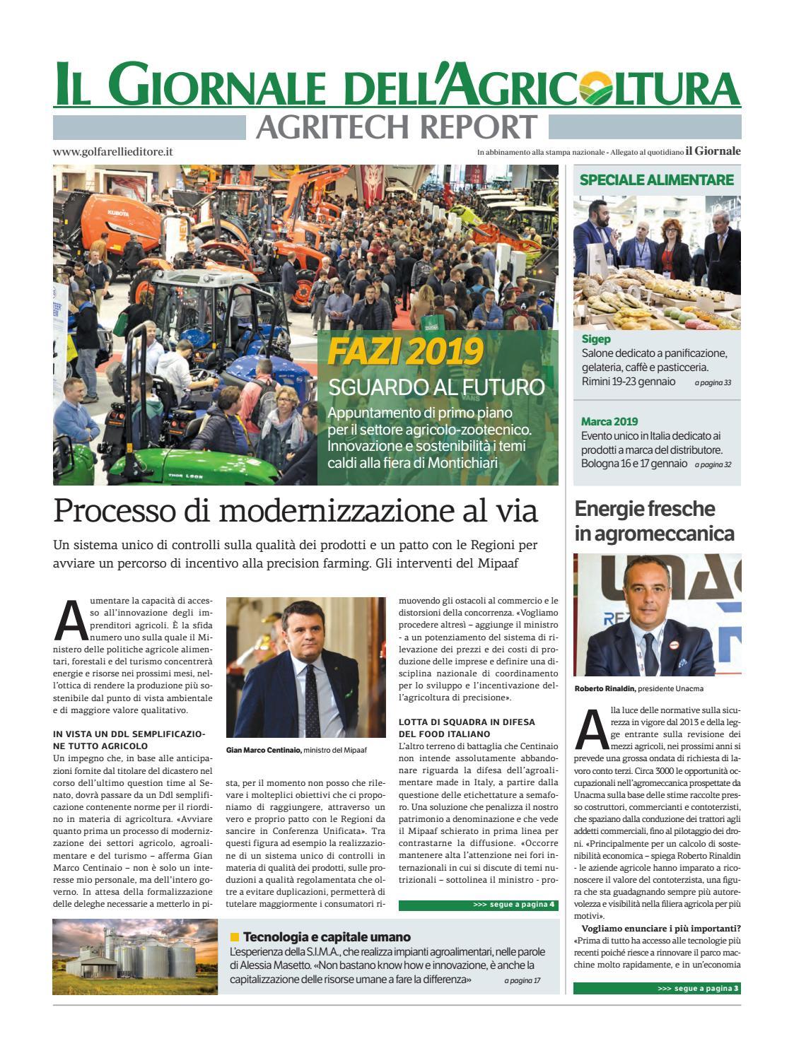 Giornale Agricoltura Dic 18 by Golfarelli Editore International Group -  issuu 13891f8ad2398