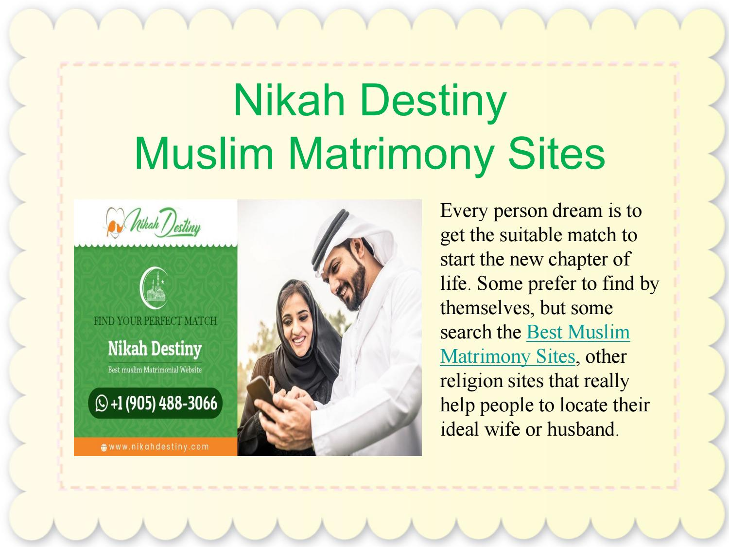 Find Perfect Muslim Matrimony Site for Wedding by Nikah