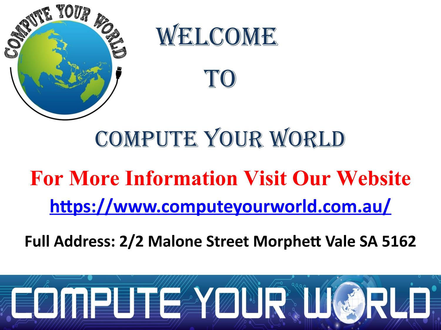 Dial- (08) 8461 9552 Computer Stores Adelaide | Computer