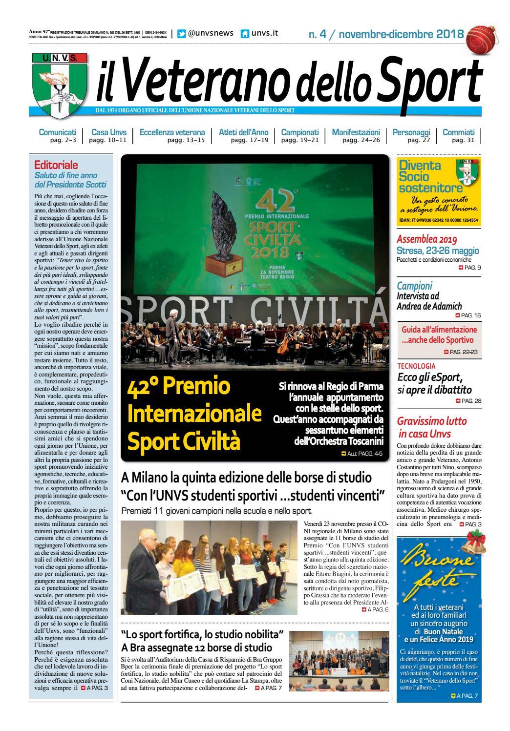 uk sporco a prezzi ragionevoli nuovo stile di vita il Veterano dello Sport n. 4 2018 by IL VETERANO - issuu