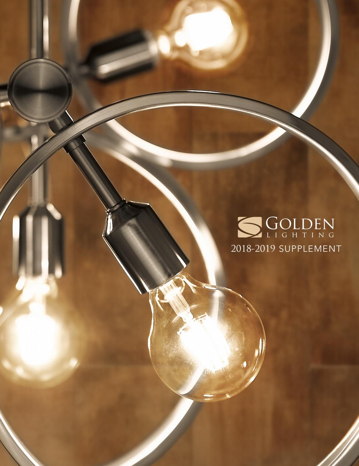 Golden Lighting 8330-6 PW Six Light Chandelier Black