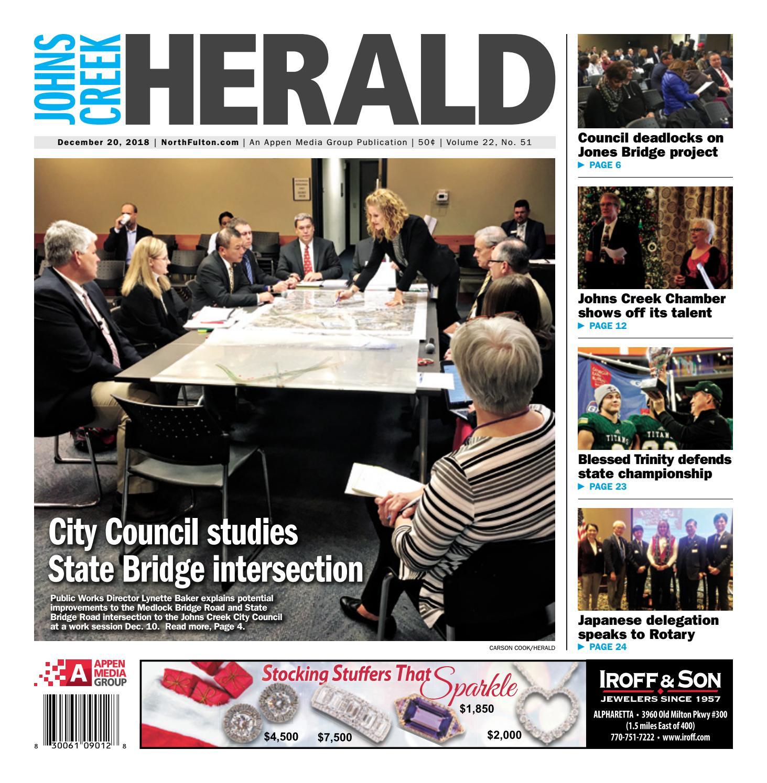 Johns Creek Herald – December 20, 2018 by Appen Media Group
