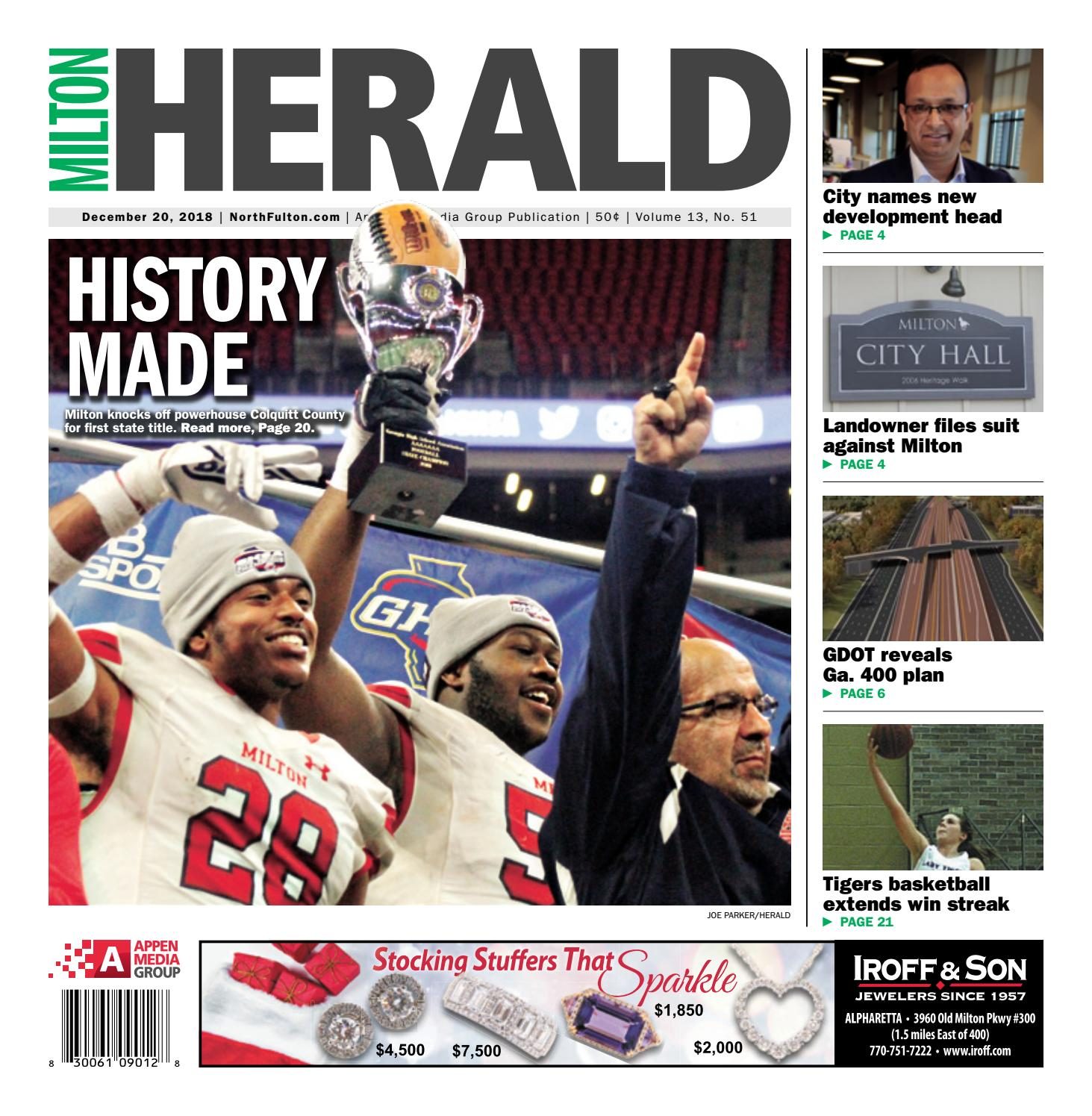 Milton Herald – December 20, 2018 by Appen Media Group - issuu