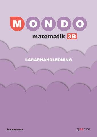 53a5d43a6c0d Mondo matematik 3B Lärarhandledning