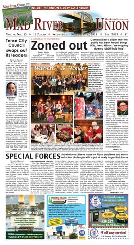 Mad River Union December 19, 2018 Edition by Mad River Union