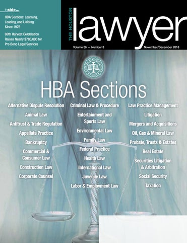 The Houston Lawyer_November/December , 2018 issue