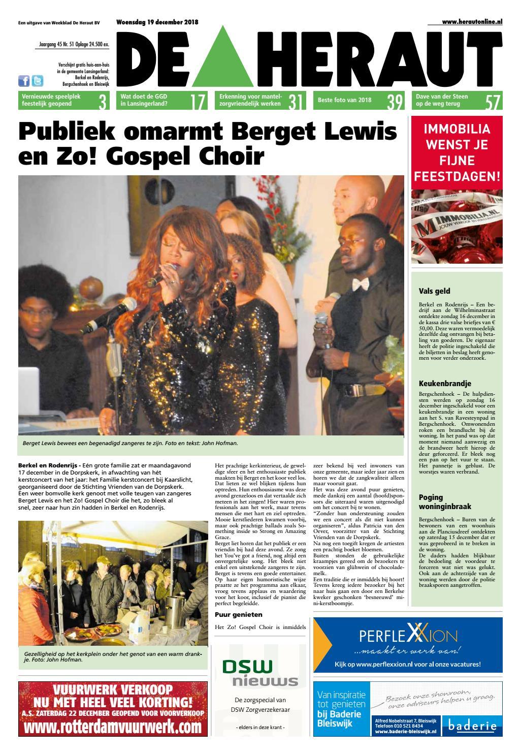 cb9fec96405b46 Heraut week 51 2018 by Nieuwsblad De Heraut - issuu