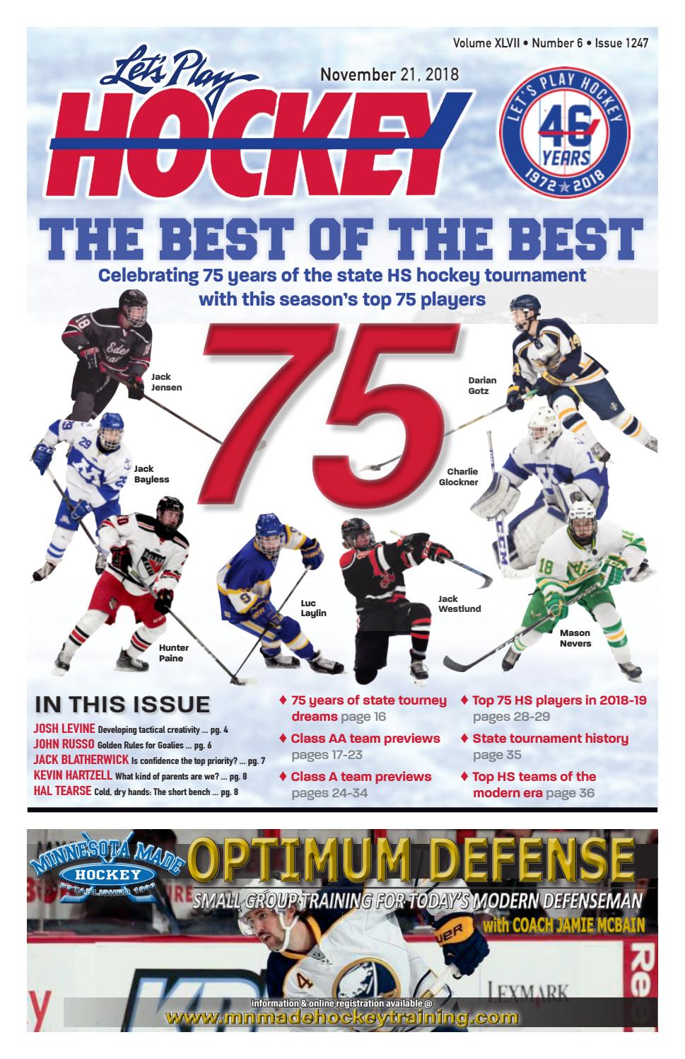 Nov 2 2018 Issue Of Let S Play Hockey By Let S Play Hockey Issuu