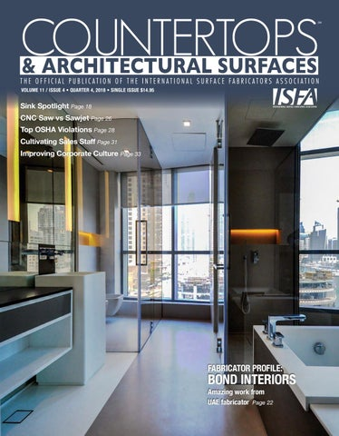 ISFA's Countertops & Architectural Surfaces Vol  11, Issue 4 - Q4