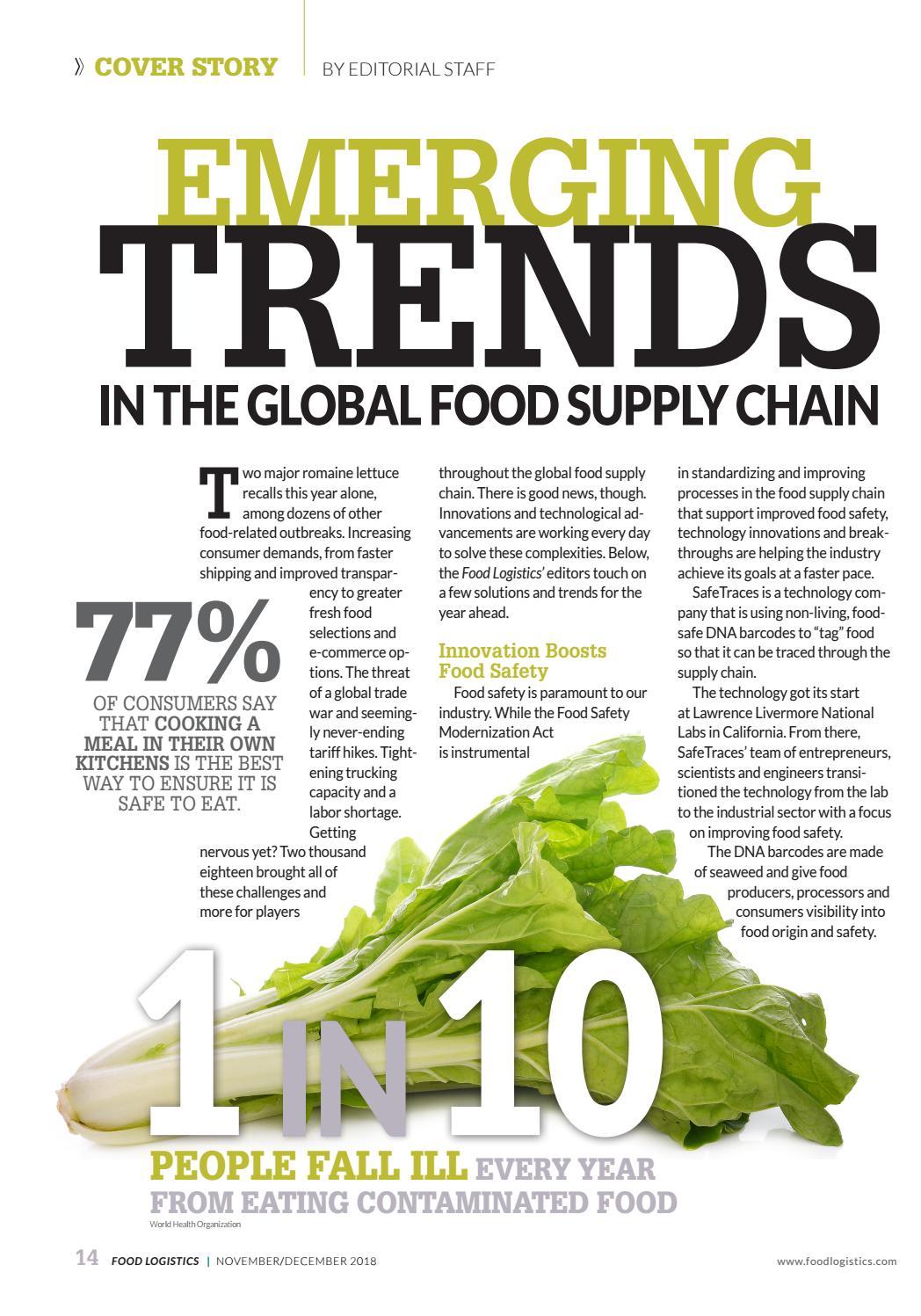 Food Logistics Nov/Dec 2018 by Supply+Demand Chain/Food