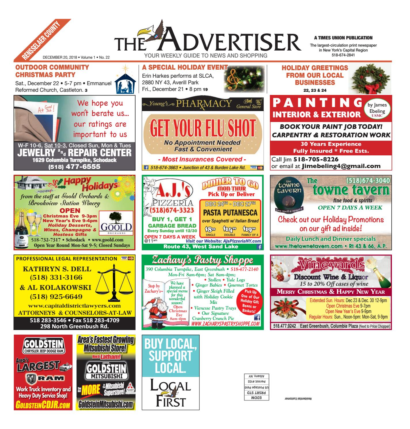 c27086cc252036 Local First The Advertiser 122018 by Capital Region Weekly Newspapers -  issuu