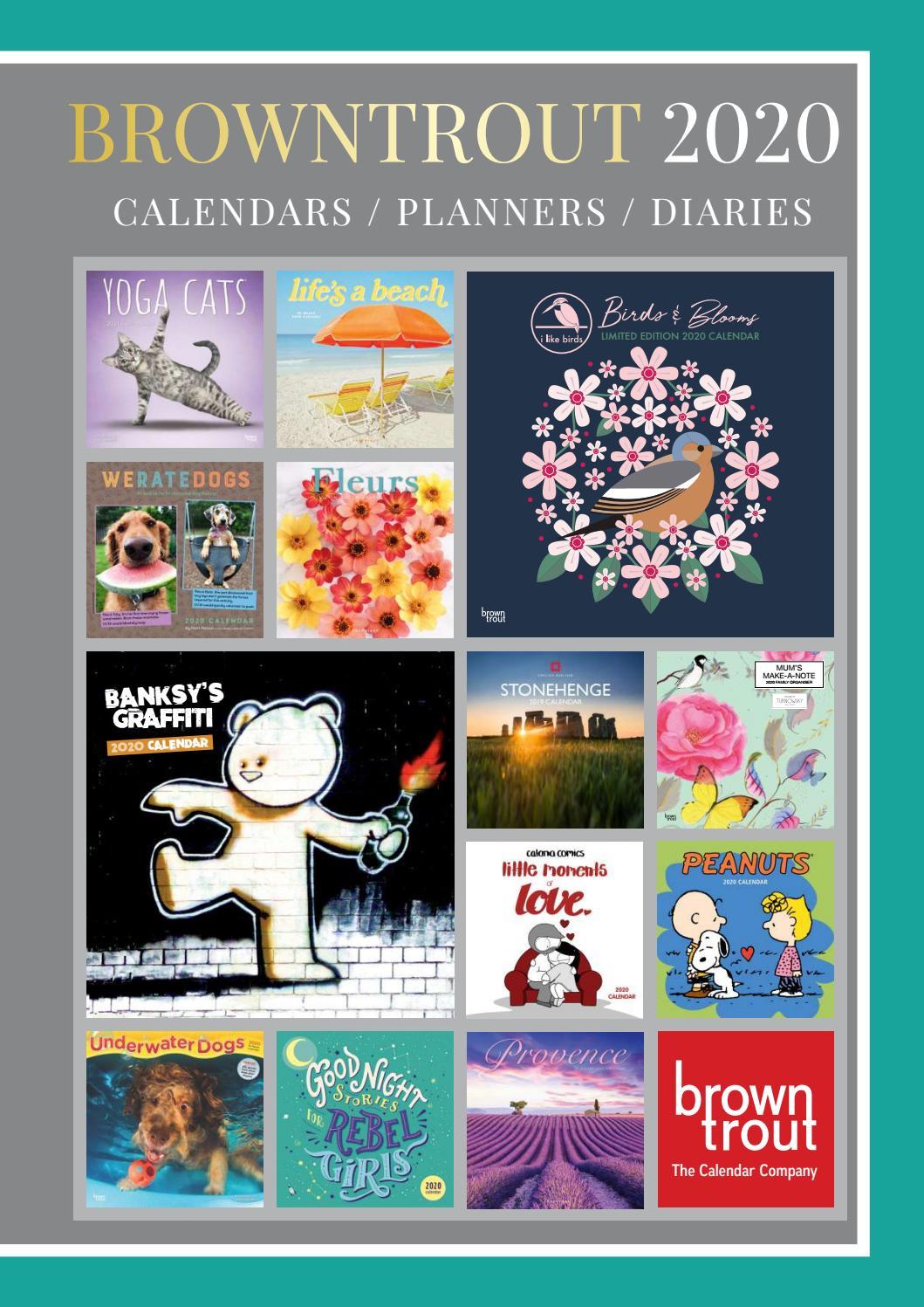 Browntrout Publishers Ltd UK 2020 Calendar Catalogue by