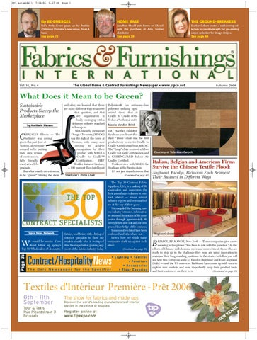 Fabrics & Furnishings International - Autumn 2006 Issue by Fabrics