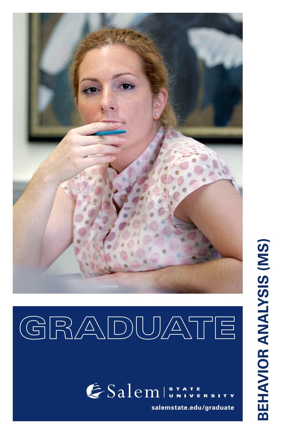 Master of Science Behavior Analysis (MS) by Salem State University