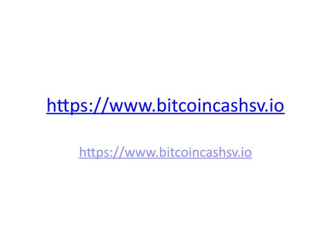 Bitcoin Cash SV Fork by danielkingram - issuu