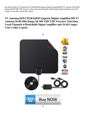 Buy Best Product TV Antenna 2018 UPGRADED Gagawin Digital