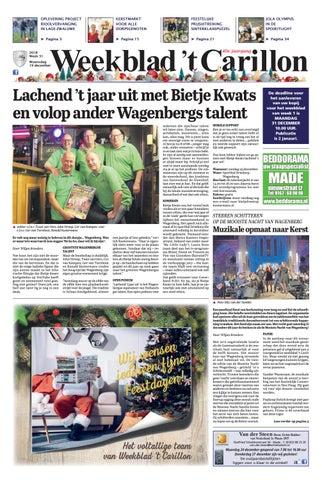 8c5400eb0a4e6e Weekblad  t Carillon 19-12-2018 by Uitgeverij Em de Jong - issuu