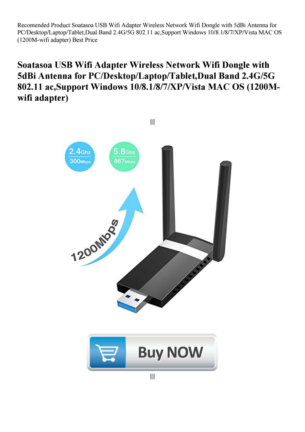 etc. ASHATA 1200M Dual Frequency Wireless Network Card USB WiFi Adapter Receiver for Mobilephones Tablets