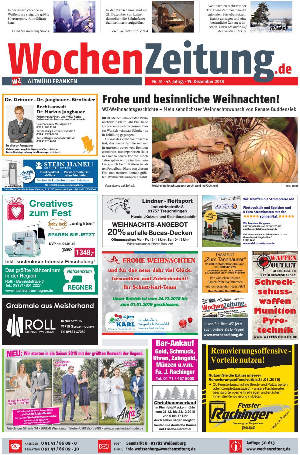 Wochenzeitung Altmühlfranken Kw 5118 By Wochenzeitung