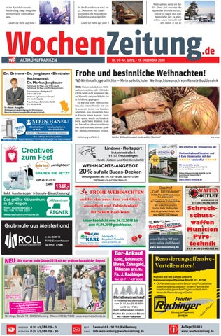 Wochenzeitung Altmuhlfranken Kw 51 18