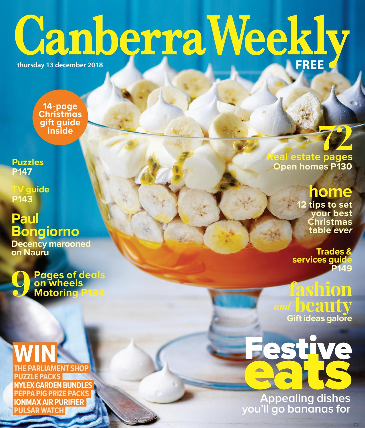 13 December 2018 by Canberra Weekly Magazine - issuu 862fe1dc99f69