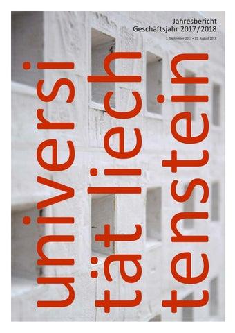 Jahresbericht 20172018 Der Universität Liechtenstein By Universität