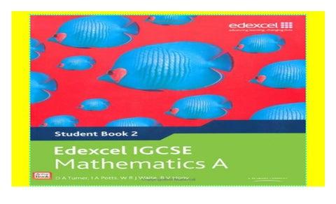 Edexcel Igcse Mathematics A Student Book 2 Edexcel International Gcse Download P D F By Shayzam8575 Issuu