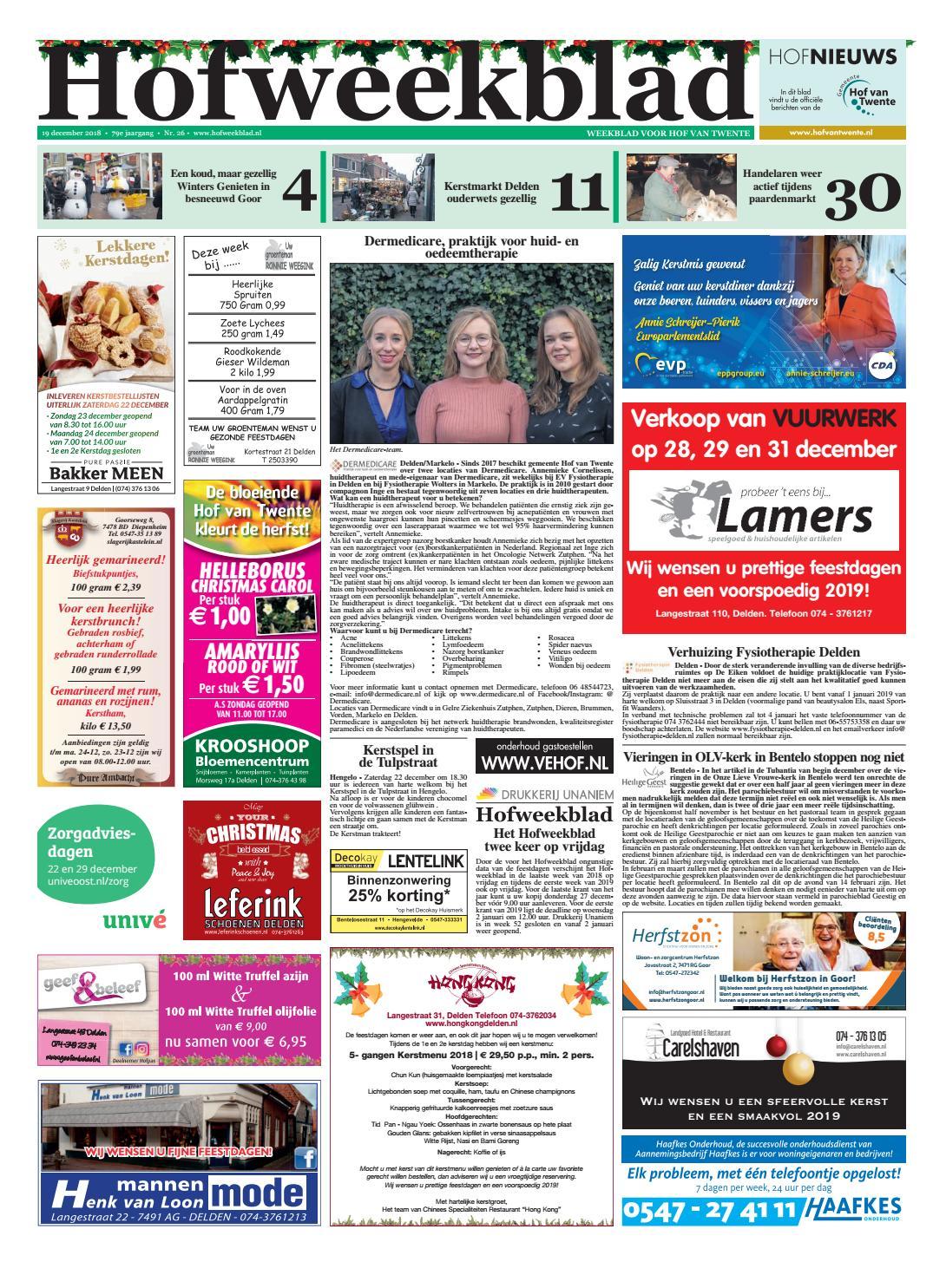6 Witte Stoelhoezen.Hofweekblad Week 51 18 By Regionale Uitgeversgroep Issuu