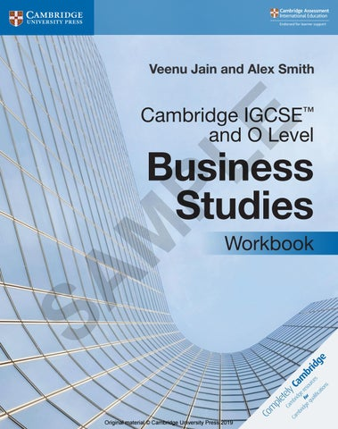 Cambridge IGCSE and O Level Business Studies Workbook Sample by