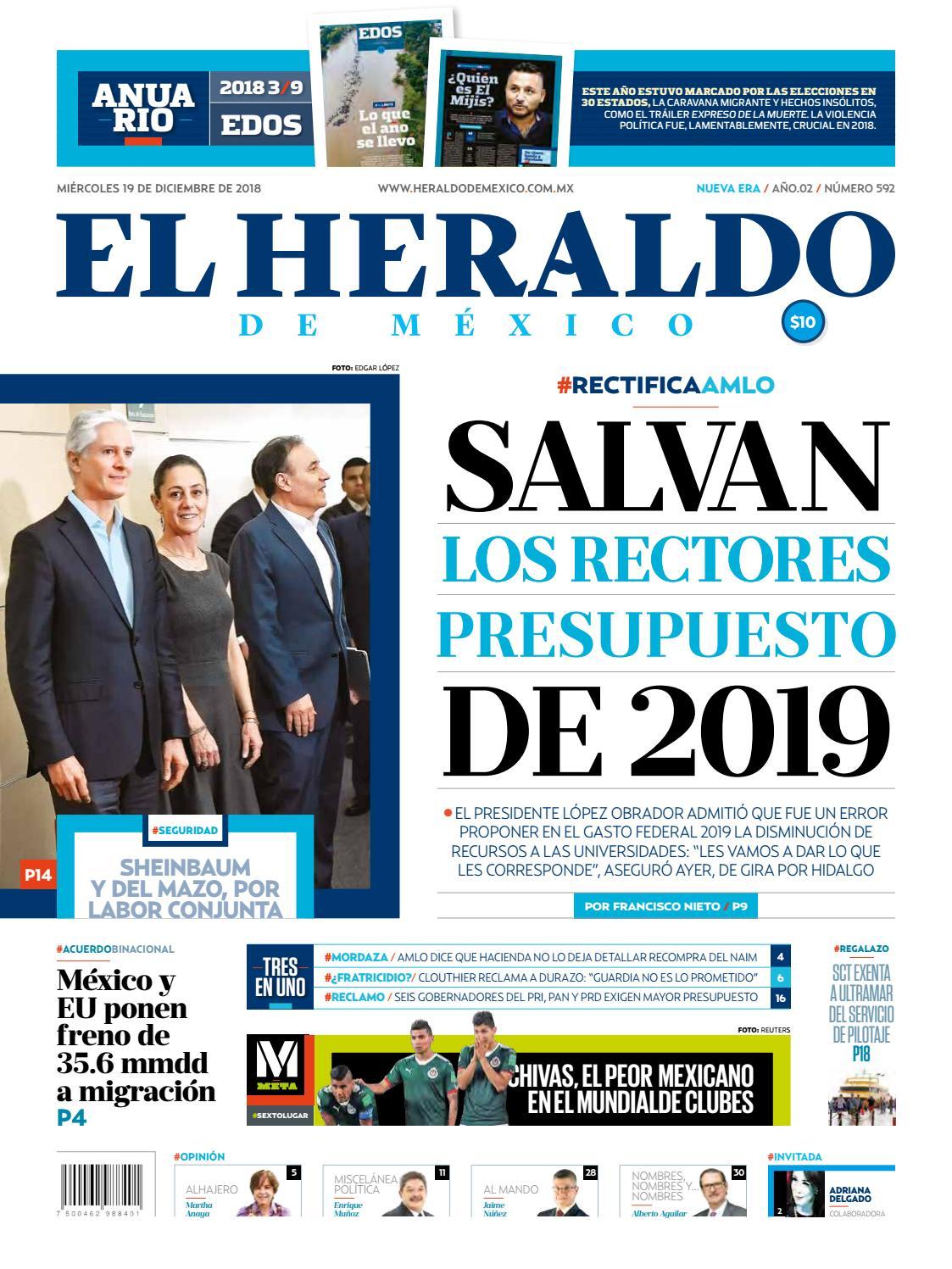 0b97bc501de17 19 de diciembre de 2018 by El Heraldo de México - issuu