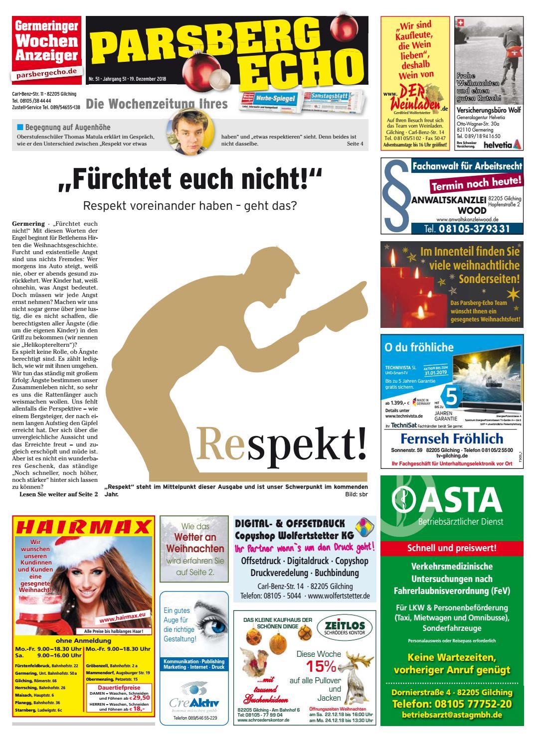 Weihnachtsgrüße Zeitungszusteller.Kw 51 2018 By Wochenanzeiger Medien Gmbh Issuu