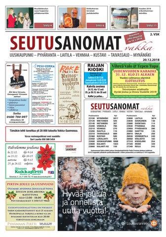 Seutusanomat Vakka 20.12.2018 by Turun Seutusanomat - issuu a494a8d871