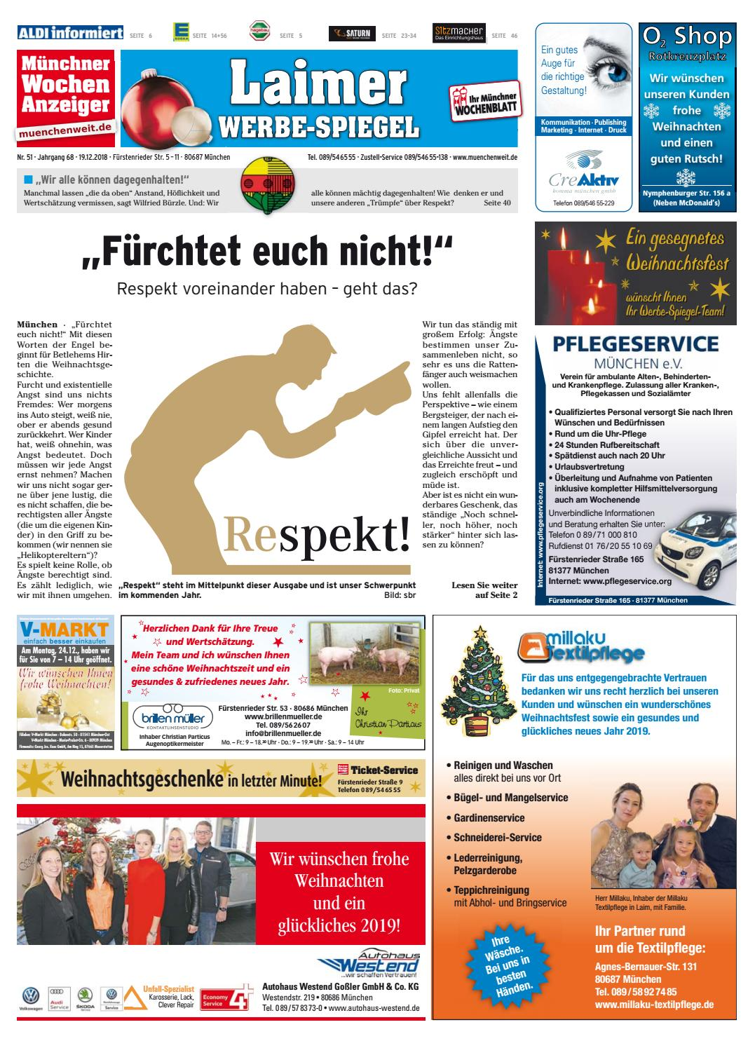 Weihnachtsgrüße Für Putzfrau.Kw 51 2018 By Wochenanzeiger Medien Gmbh Issuu