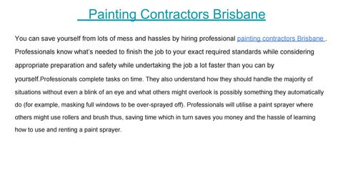 painting contractors brisbane by House Painting Quotes - issuu