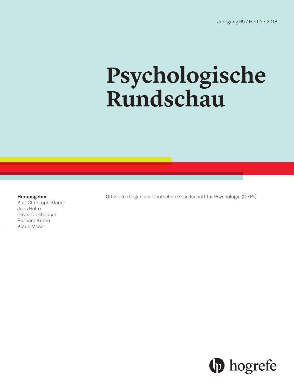 5019018092 Psychologische Rundschau by Hogrefe - issuu
