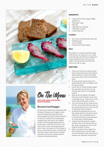 Page 35 of On the menu with Sarah Jane Russell