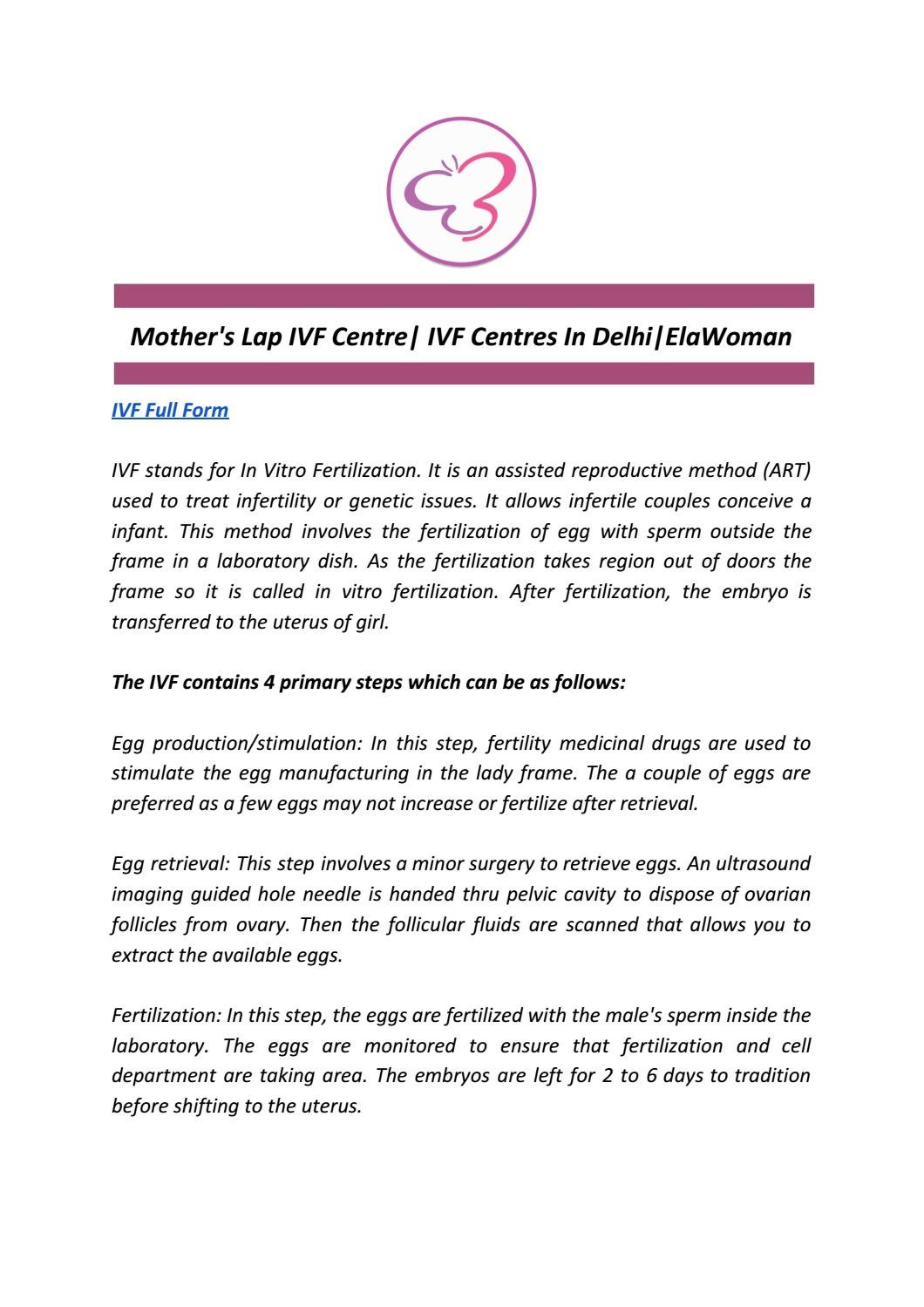 Mother's Lap IVF Centre| IVF Centres In Delhi|ElaWoman by