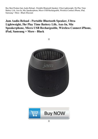 Buy Best Product Jam Audio Reload - Portable Bluetooth
