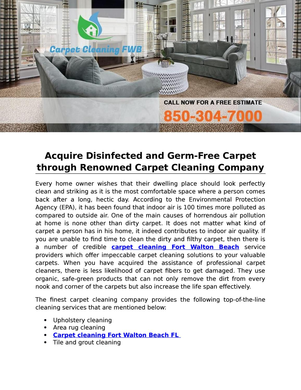 Acquire Disinfected And Germ Free