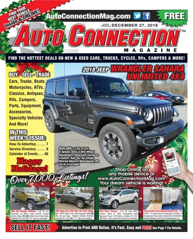 12-27-18 Auto Connection Magazine by Auto Locator and Auto