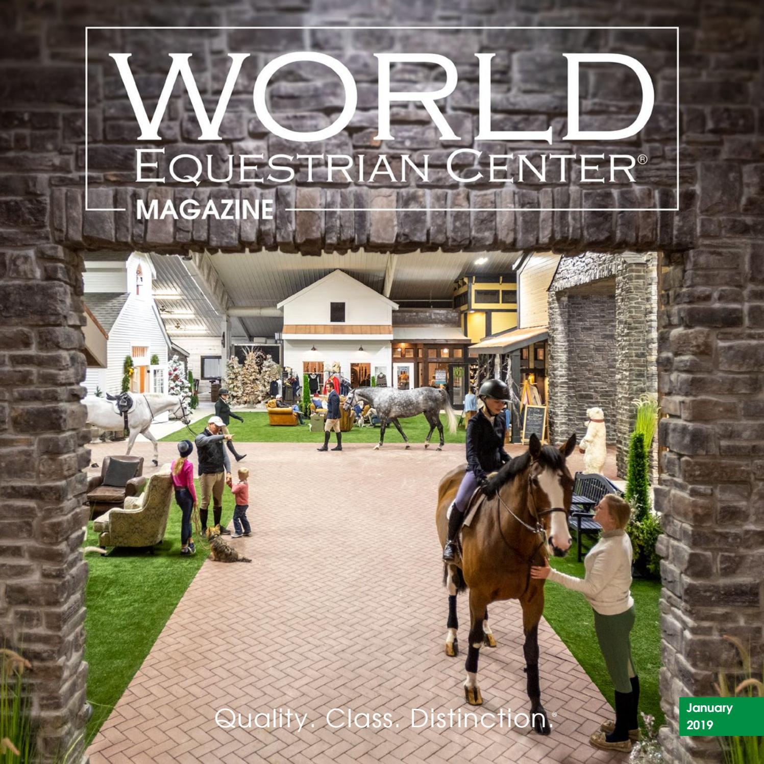 345feb9e5ca World Equestrian Center Magazine January 2019 by World Equestrian Center -  issuu