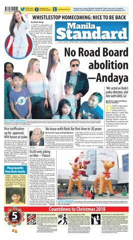 Manila Standard 2018 December 20 Thursday By Manila Standard Issuu