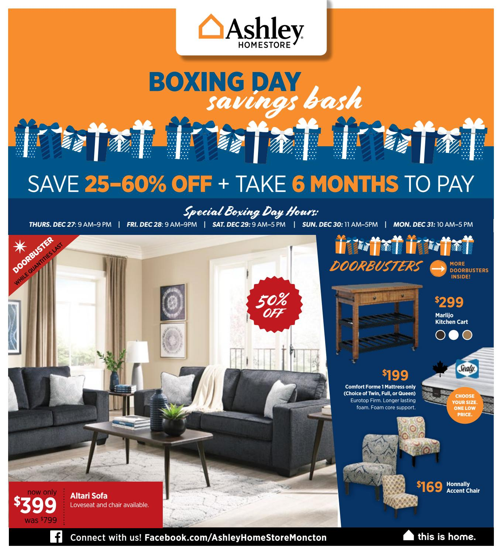 Boxing Day Savings Bash Ashley Moncton
