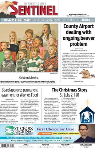 The Burnett County Sentinel 12 19 2018 By Burnett County Sentinel