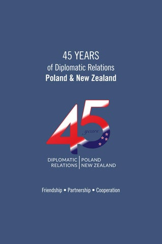 45 years of Diplomatic Relations Poland and New Zealand by Ministry