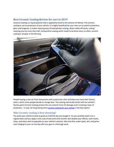 Best Ceramic Coating Review for cars in 2019 by Bryan Greene