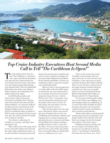 Page 14 of Top Cruise Industry Executives Host Second Media Call to Tell 'The Caribbean Is Open!'