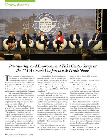Page 22 of Partnership and Improvement Take Center Stage at the FCCA Cruise Conference & Trade Show